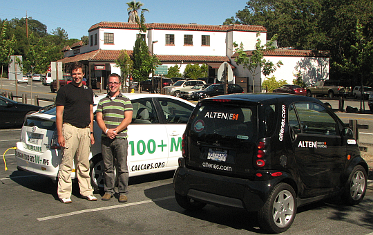 Mike Sommer and Will Huggett from Alten Energy Solutions visiting California, Aug 2007