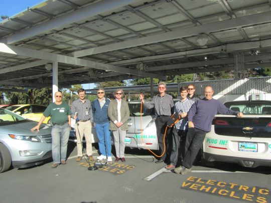 Reunion of CalCars and RechargeIt crew at Googleplex, February 2011