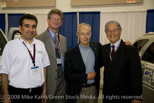 Felix with Ali Emadi of IIT, Andy Grove and Andy Frank a Plugin2008 in San Jose, July 2008
