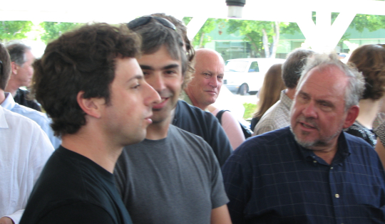 Google's Sergey Brin, Larry Page and Google.org's Larry Briliant