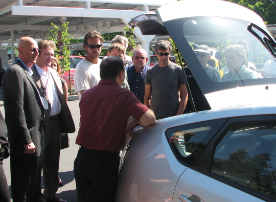 Crowd gets the first public glimpse of EDrive's new prototype PHEV