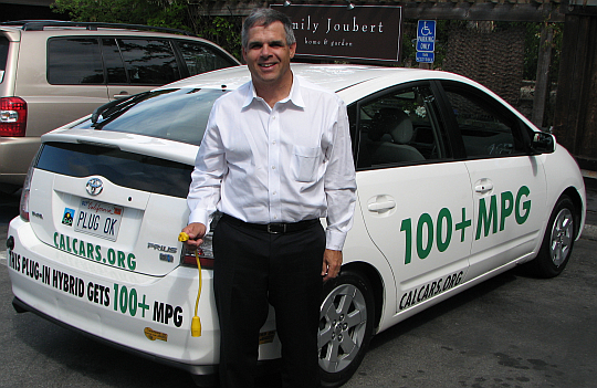 Richard Lowenthal, CEO of Coulomb Technologies, providing the charging infrastructure for plug-in cars, in Woodside, June, 2008