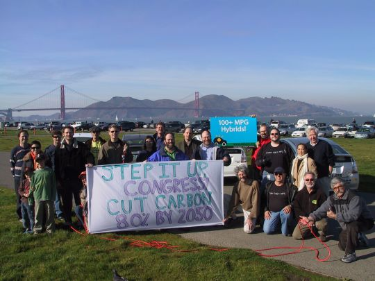 Step It Up supporters at Crissy Field